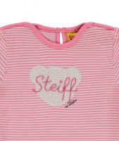 Steiff T-Shirt 1/4 Arm Ringel Morning Glory rosa gestreift Little Flowers NEU 6833131