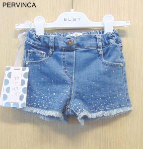 6350ad546bd5 ELSY Jeans Rock Shorts mit blau weissen Glitzer Steinchen für ...