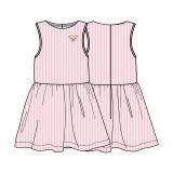 826f22b7bb44a STEIFF Kleid ohne Arm rosa weiss gestreift für Mädchen Mini Girls Modern  Maritime NEU L001912231